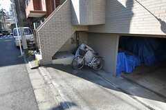 自転車置場の様子。(2011-01-26,共用部,GARAGE,1F)