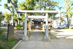 すぐ近くにある打越天神北野神社の鳥居。(2019-11-06,共用部,ENVIRONMENT,1F)