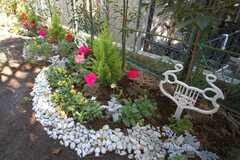 花壇の様子。(2008-12-01,共用部,OTHER,1F)