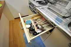 細かなキッチン備品は引出しの中。(2009-01-08,共用部,OTHER,2F)