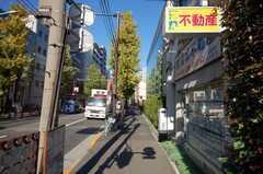 東京メトロ丸ノ内線新中野駅からシェアハウスへ向かう道の様子。(2009-01-08,共用部,ENVIRONMENT,1F)