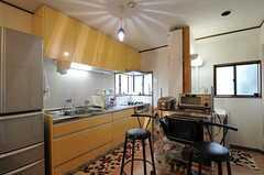 キッチンの様子。大きめなので使い勝手も良さそうです。(2012-03-04,共用部,KITCHEN,2F)