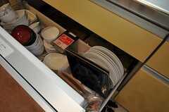 同じくシンク下の引き出しには、食器も収納されています。(2012-03-04,共用部,KITCHEN,2F)