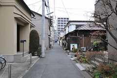 シェアハウスから東京メトロ丸ノ内線・新中野駅へ向かう道の様子。(2012-03-04,共用部,ENVIRONMENT,1F)