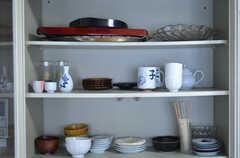 食器棚の様子。(2012-07-09,共用部,KITCHEN,1F)