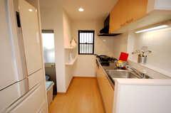 シェアハウスのキッチンの様子。(2008-10-14,共用部,KITCHEN,1F)