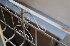 可愛らしい窓手摺。(202号室)(2011-10-31,専有部,ROOM,2F)