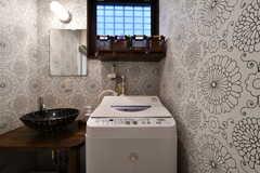 洗濯機の様子。(2019-12-09,共用部,LAUNDRY,1F)