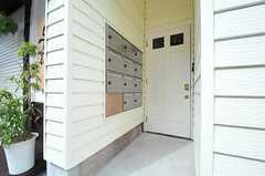 シェアハウスの玄関の様子。建物の裏手にも入り口があります。(2014-03-10,周辺環境,ENTRANCE,1F)