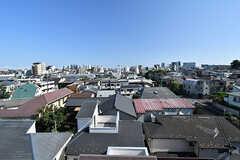 屋上から見える景色。新宿のビル群も見えます。(2017-07-10,共用部,OTHER,5F)