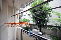 リビングからベランダに出ることができ、物干しも可能です。(2010-07-06,共用部,OTHER,2F)
