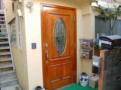 シェアハウスの正面玄関。(2008-02-27,周辺環境,ENTRANCE,1F)