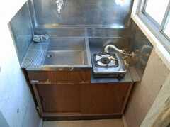 専有部の様子4。ミニキッチンの様子。(201号室)(2008-02-27,共用部,KITCHEN,2F)