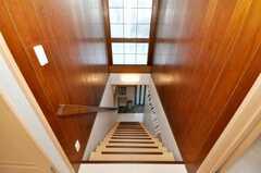 階段の様子。壁面は昔のまま残っています。(2010-02-04,共用部,OTHER,2F)