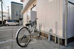 自転車置場の様子。(2010-02-04,共用部,GARAGE,1F)