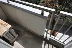 ベランダの様子。(208号室)(2012-09-10,専有部,ROOM,2F)