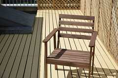 木製のチェア。(2012-09-10,共用部,OTHER,3F)