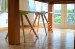 椅子の足も可愛らしいです。(2011-09-22,共用部,OTHER,1F)