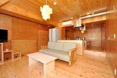 シェアハウスのラウンジの様子5。(2009-12-07,共用部,LIVINGROOM,3F)