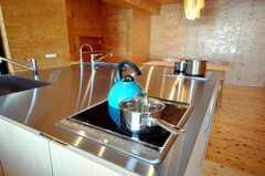 シェアハウスのキッチンの様子。(2009-12-07,共用部,KITCHEN,3F)