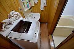 洗濯機の様子。(2015-07-14,共用部,LAUNDRY,3F)
