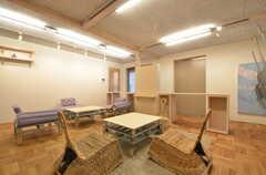 リビングの家具は組み替えることで色んな使い方ができます。(2014-11-25,共用部,LIVINGROOM,1F)