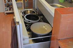 鍋類はシンク下に収納されています。(2019-08-09,共用部,KITCHEN,7F)