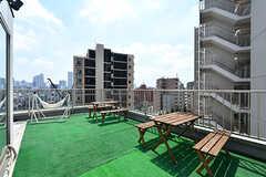 屋上の様子。人工芝が敷かれています。(2019-08-09,共用部,OTHER,8F)