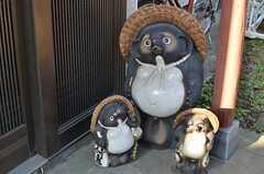 タヌキもお出迎えしてくれます。(2013-01-07,周辺環境,ENTRANCE,1F)