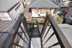 屋上への階段の様子。(2009-10-16,共用部,OTHER,4F)