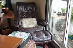 オットマン付きの1人掛けソファもあります。(2016-08-08,共用部,LIVINGROOM,2F)