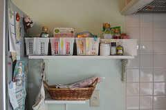 専有部ごとに食材などをしまえるボックス。(2016-08-08,共用部,KITCHEN,1F)