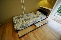 ベッド下収納の様子。(102号室)(2011-03-30,専有部,ROOM,1F)