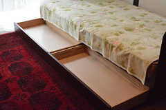 ベッド下収納の様子。(103号室)(2016-08-08,専有部,ROOM,1F)