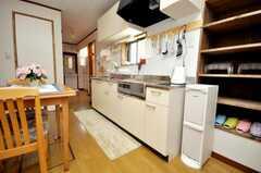 シェアハウスのキッチンの様子。(2009-04-23,共用部,KITCHEN,1F)