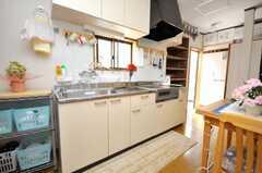 シェアハウスのキッチンの様子2。(2009-04-23,共用部,KITCHEN,1F)