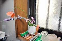 花が飾られていました。(2009-04-23,共用部,OTHER,1F)