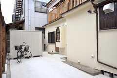 自転車置場の様子。(2009-04-23,共用部,GARAGE,1F)