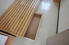 ベッド下収納の様子。(426号室)(2011-07-26,専有部,ROOM,4F)