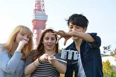 東京タワーをバックに写真撮影。(2015-10-24,共用部,OTHER,1F)