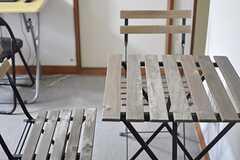 リビングのテーブルの様子。(2014-07-17,共用部,LIVINGROOM,2F)