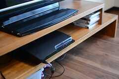 プレステ3なども備え付け。(2015-03-16,共用部,TV,1F)
