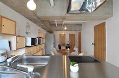 キッチンの天板の様子。(2011-03-18,共用部,KITCHEN,3F)