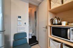 食器棚の脇はトイレです。(2018-12-19,共用部,OTHER,4F)