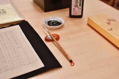 テーブルは、習字、裁縫、かるたなどを広げても余裕があります。(2018-12-19,共用部,OTHER,2F)