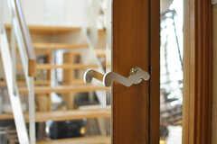 リビング扉のドアノブは、面白い形です。(2013-09-02,共用部,OTHER,1F)