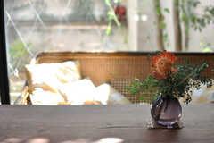 テーブルの様子。(2013-09-02,共用部,LIVINGROOM,1F)