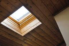 ロフトに寝そべると、天窓から星空がみえるのだとか。(205号室)(2013-09-02,専有部,ROOM,2F)