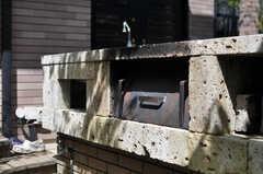 大谷石で作ったという、手作りのピザ窯があります。(2013-09-02,共用部,OTHER,1F)