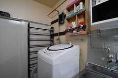 洗濯機の様子。(2017-09-19,共用部,LAUNDRY,1F)